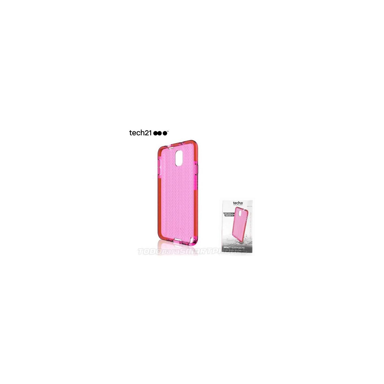 Funda TECH21 Impact Samsung Note 3 Rosa translucido