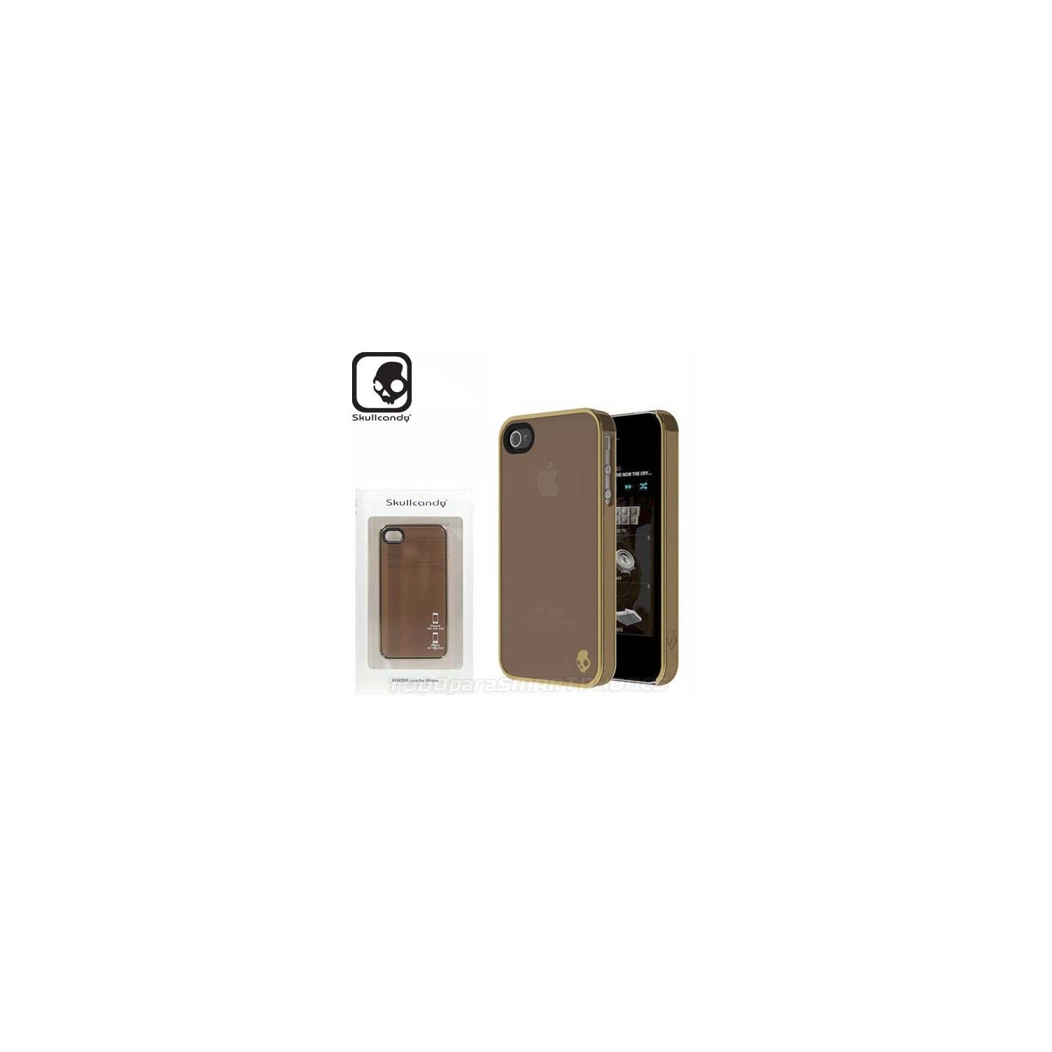 Case - Skullcandy Aviator for iPhone 4 and 4s Brown Gold