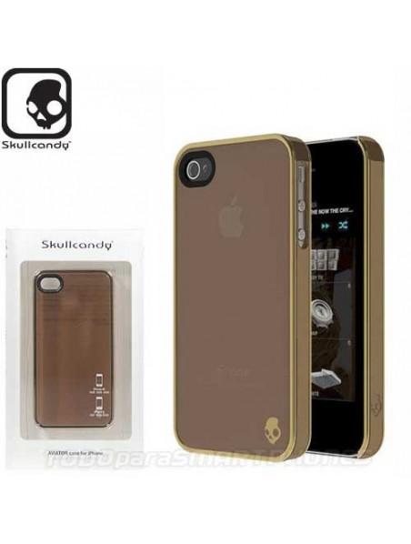 Funda SKULLCANDY iPhone 4 y 4s Aviator Cafe Gold