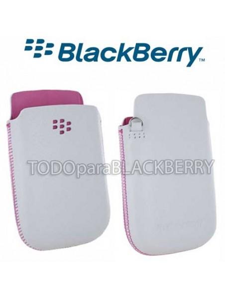 Funda Pouch 9800 Blackberry Torch Blanca sin Clip