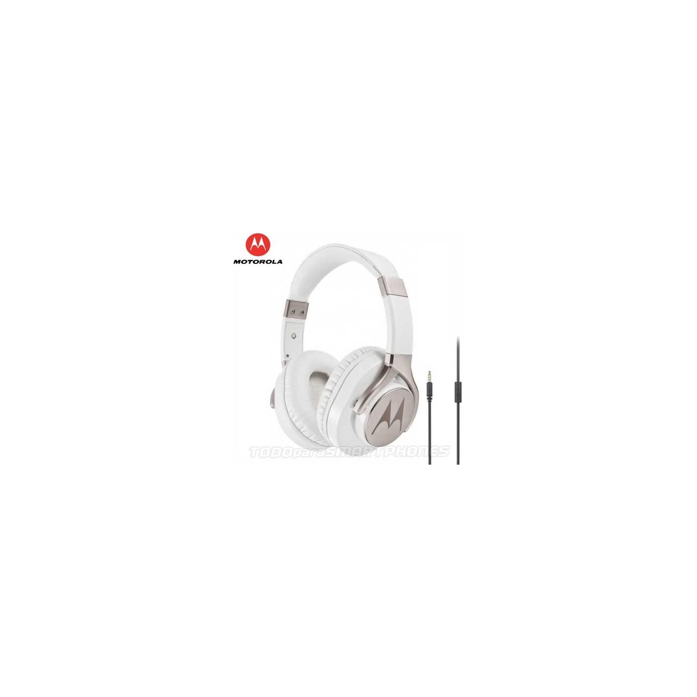 Manos Libres MOTOROLA Pulse Max BLANCO 3.5mm Audifonos Stereo Universal alámbrico
