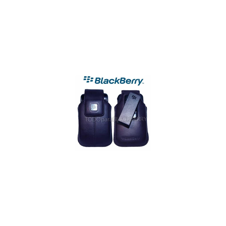 Funda Vertical 9500 9530 9550 9520 Storm Azul Clip original Blackberry HDW-18969-002