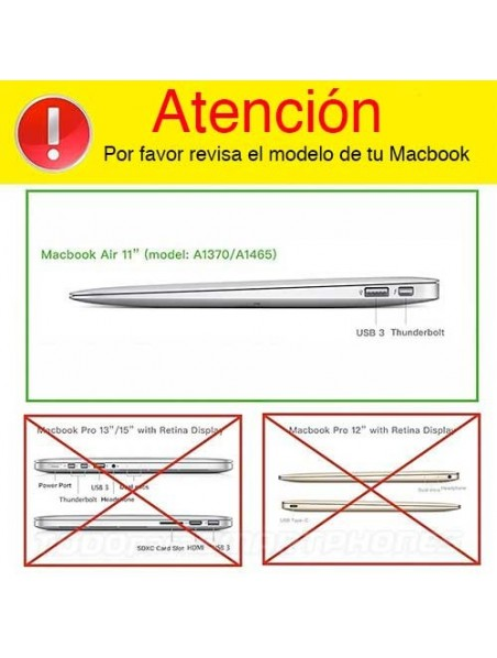 "Carcasa Funda IBENZER Silk Apple MacBook AIR 11"" (A1465/A1370) CAFE BRILLOS"