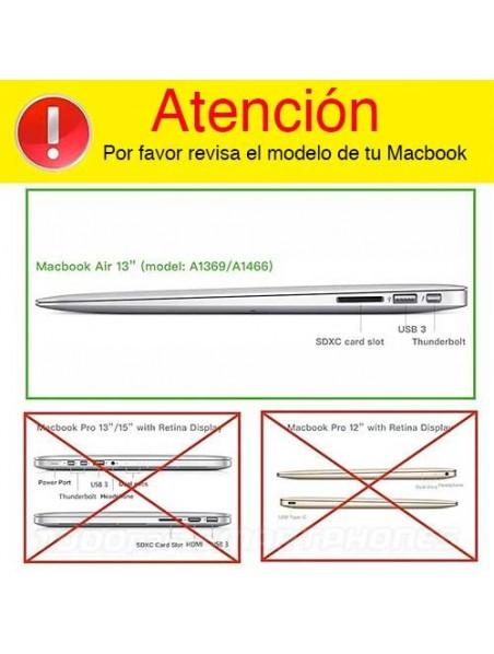 "Case - IBENZER Silk Smooth Case for MacBook AIR 13"" (A1466 & A1369) Caribbean BLUE"
