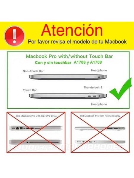 """Carcasa Funda IBENZER NP Apple MacBook PRO 13"""" (A1706 y 1708) Transparente"""