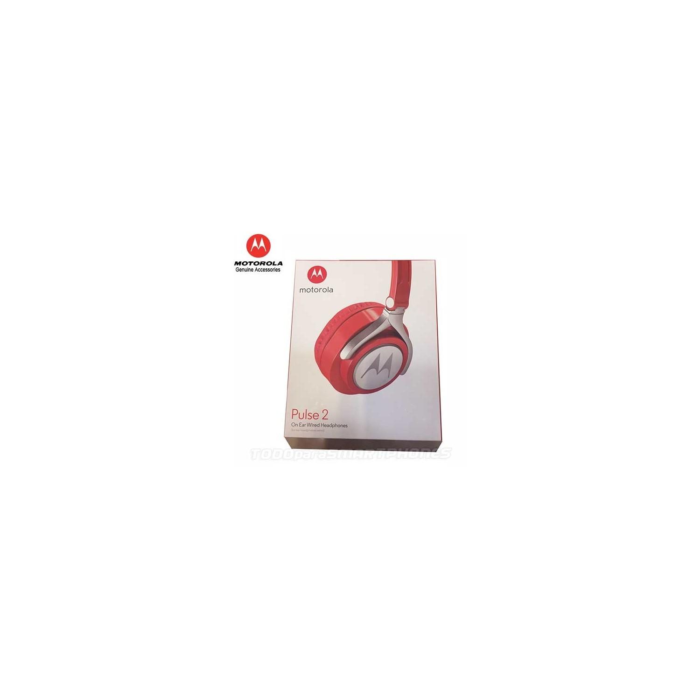 Manos Libres MOTOROLA Pulse 2 ROJO 3.5mm Audifonos Stereo Universal alámbrico