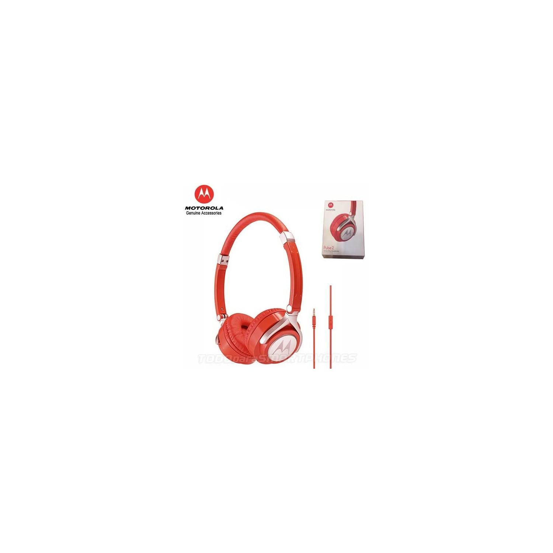 Headset - MOTOROLA OEM Pulse 2 Stereo 3.5m Universal RED