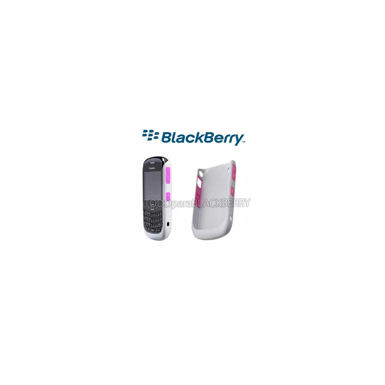 Hardshell Protector Blackberry 9300 8520 Rosa - Gris