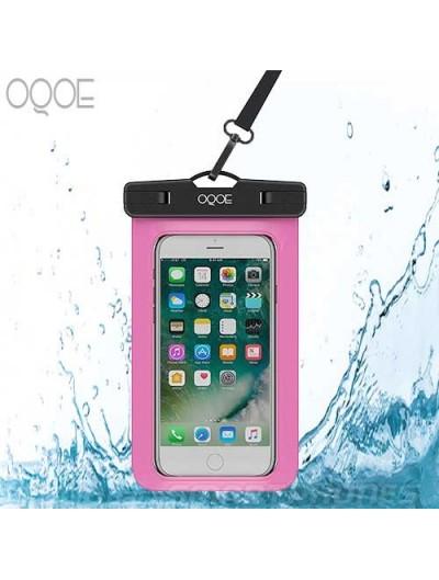 Funda OQOE contra Agua Universal colgante sumergible - Rosa