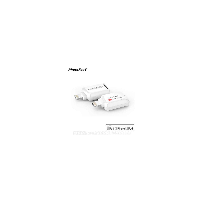 PhotoFast TubeReader iOS Card Reader - White