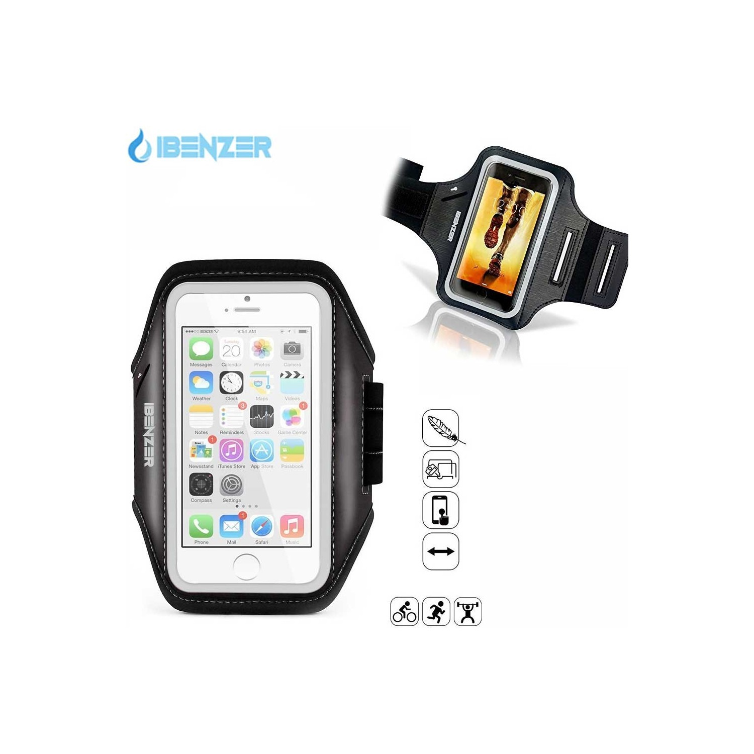 """Case - IBENZER Classic Armband for 4.7"""" phones including iPhone 7/6s/6"""