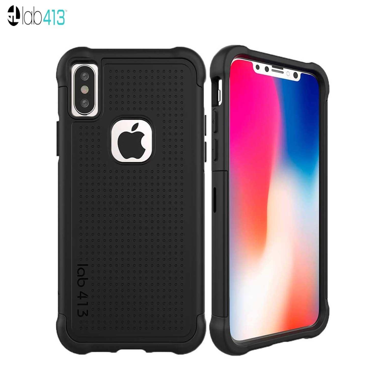 Funda LAB413 TJ iPhone X Negro/Negro protector uso rudo