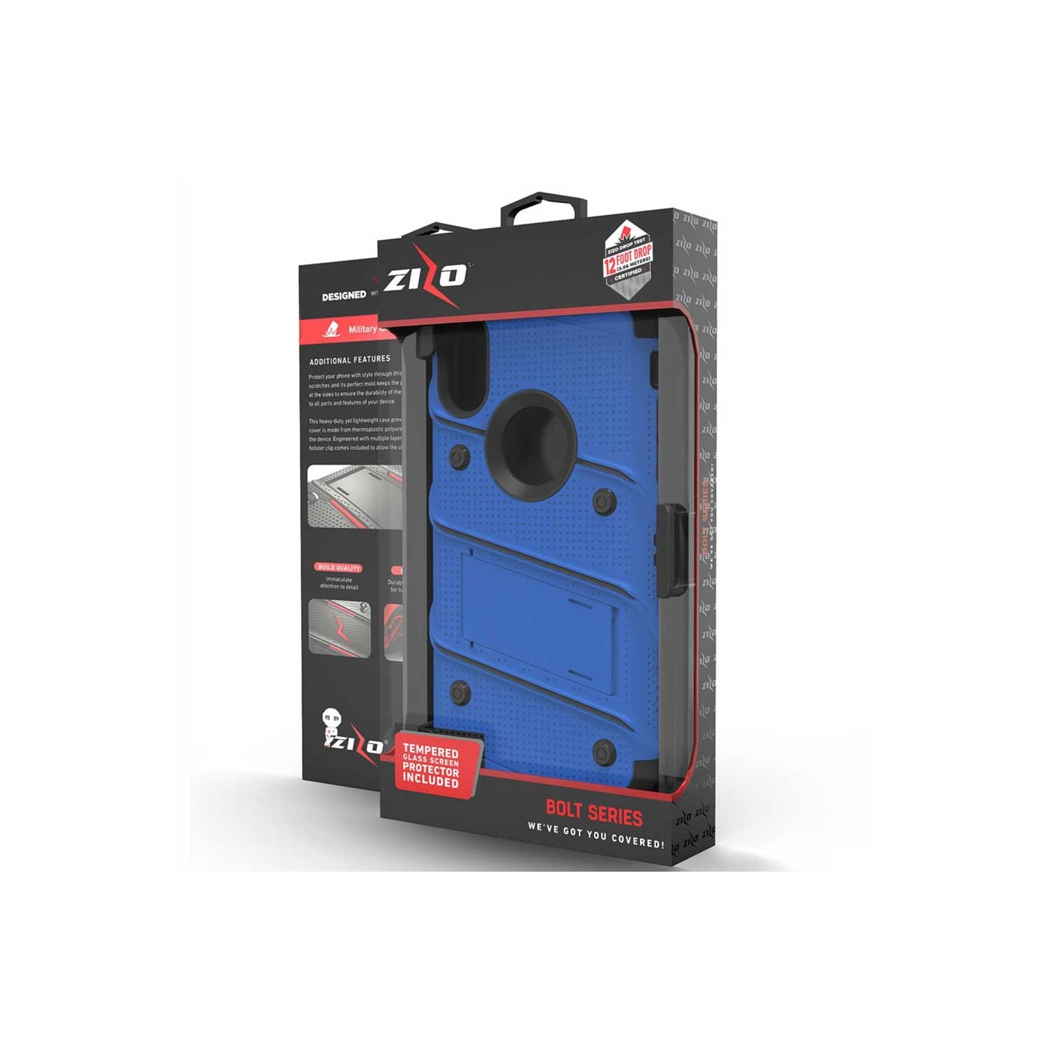 Case - Zizo® Bolt Case for iPhone Xs MAX Blue/Black