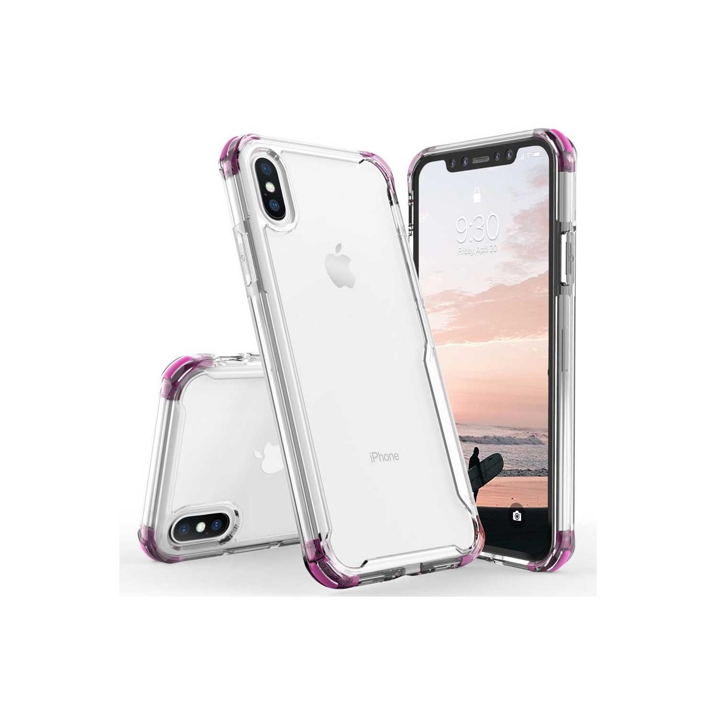 Funda ZIZO Surge para iPhone Xs/X Transparente/Rosa