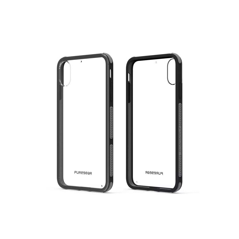 Funda PUREGEAR iPhone Xs Max Dualtek Transparente borde negro