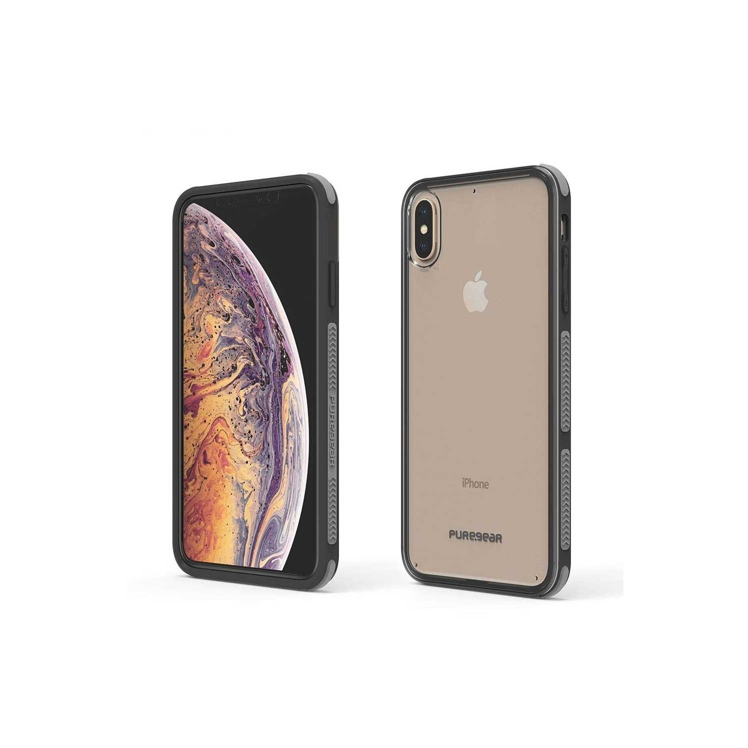 Case - Dualtek Clear Puregear for iPhone Xs Max - Clear / Black