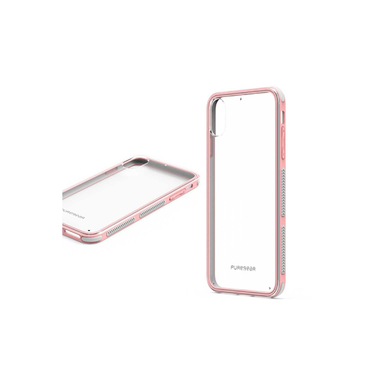 Case - Dualtek Clear Puregear for iPhone Xs Max - Clear / Pink