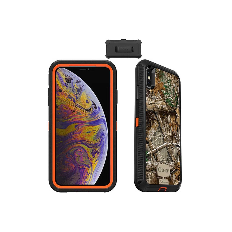 Funda OTTERBOX Defender iPhone Xs MAX Camo Realtree Funda Uso Rudo con Clip giratorio