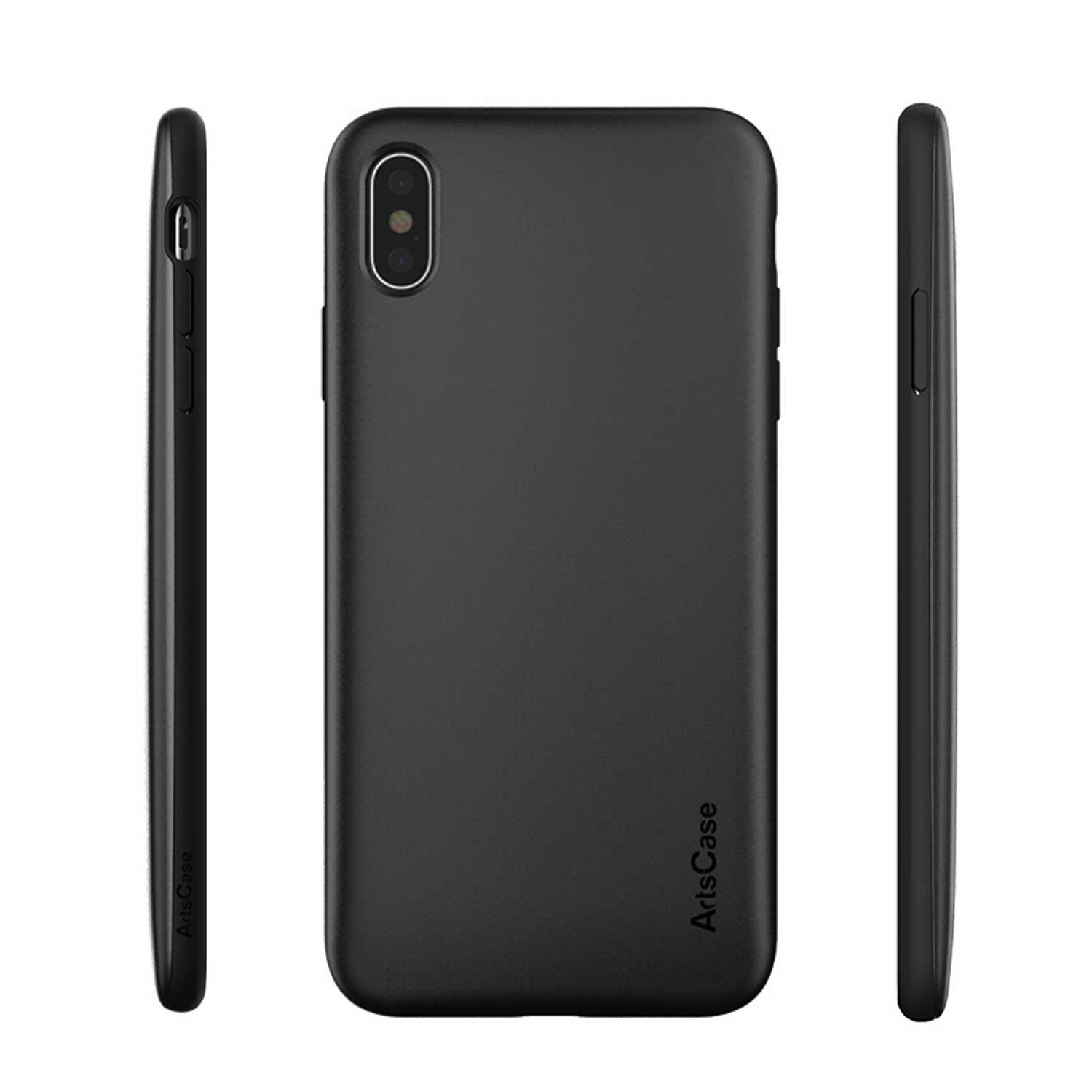 Case -  ArtsCase StrongFit for iPhone Xs MAX Black