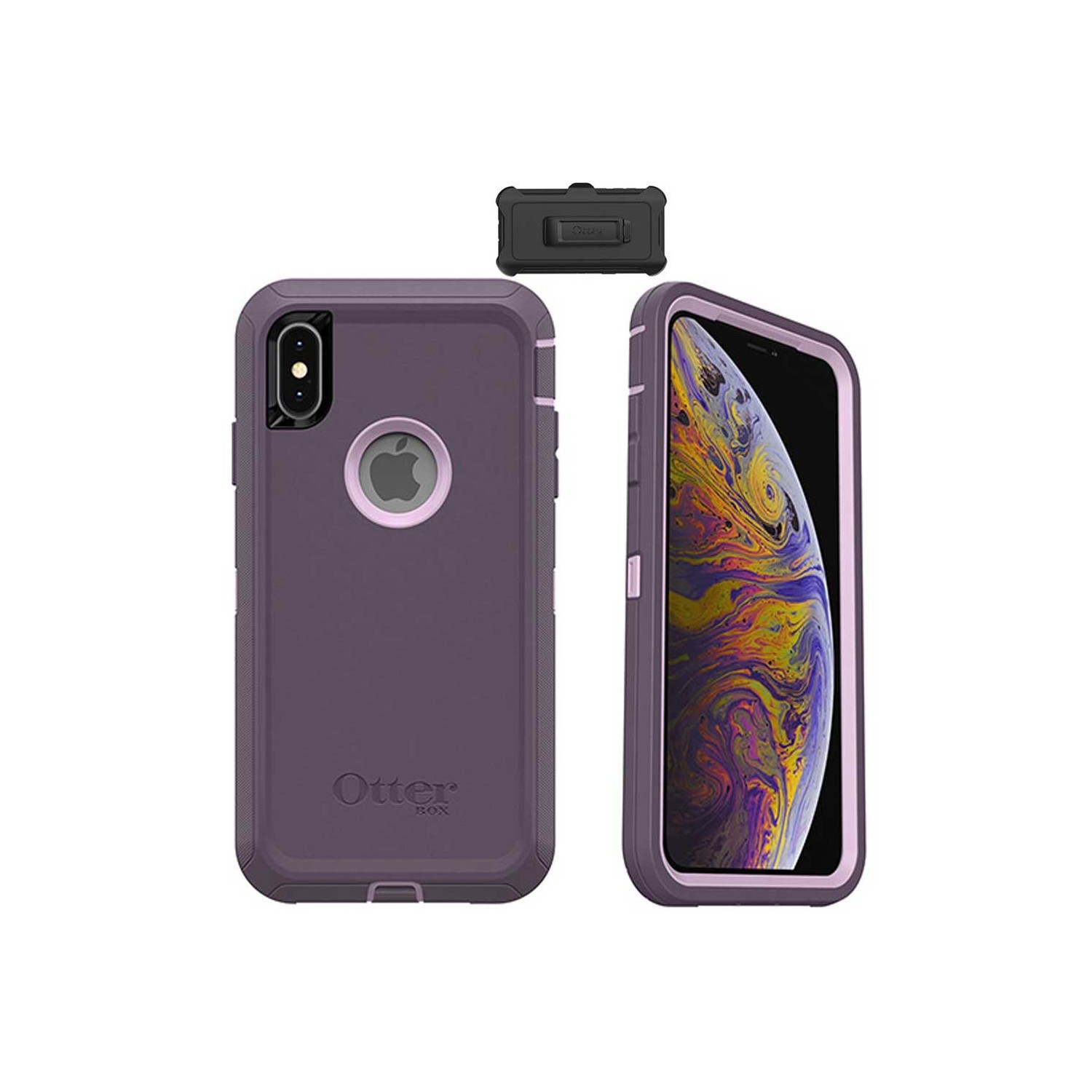 Case - Otterbox Defender for iPhone Xs Purple