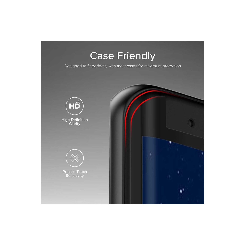 Mica Vidrio Templado ZIZO Samsung S9 Protectora de pantalla transparente borde negro