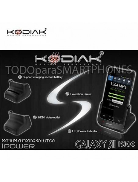 Cargador Base Kodiak Dual para Samsung S2 i9100