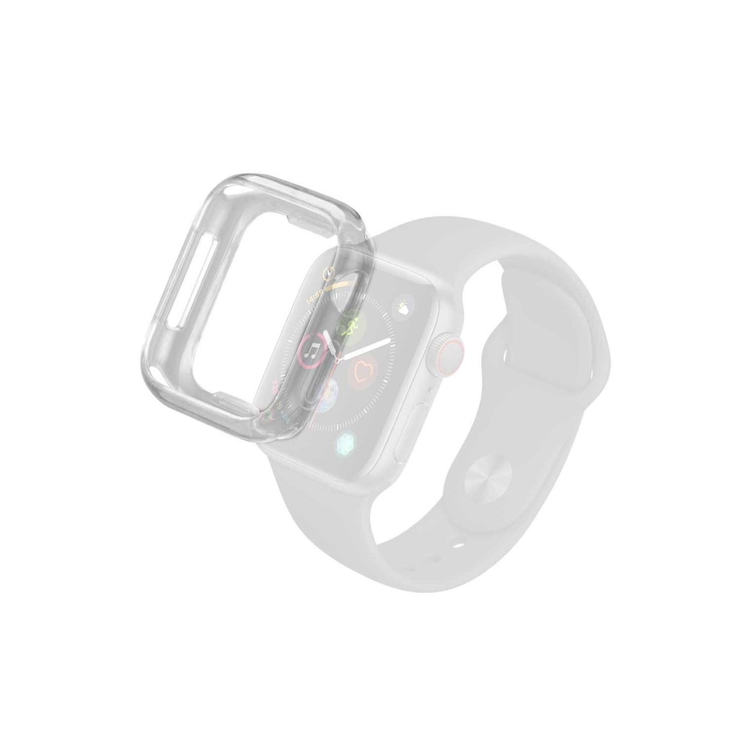 Bumper Plástico suave PC compatible para Apple Watch 44mm Protectora de pantalla