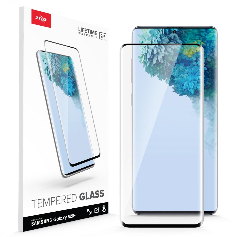 Mica Vidrio ZIZO para Samsung S20 PLUS Protectora de pantalla transparente borde negro