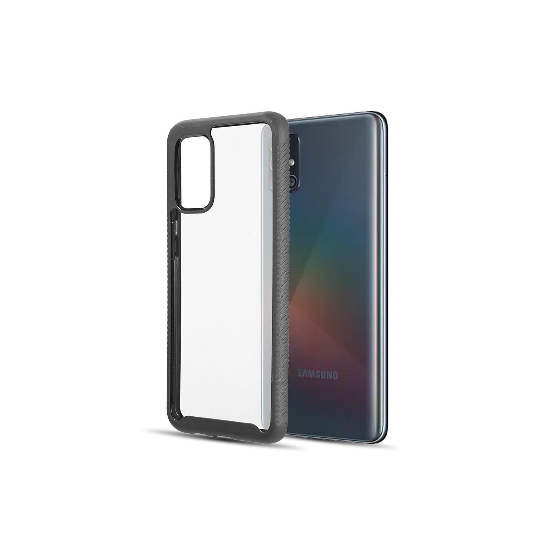 . Funda DW Fusion para Samsung A51 Transparente borde Negro