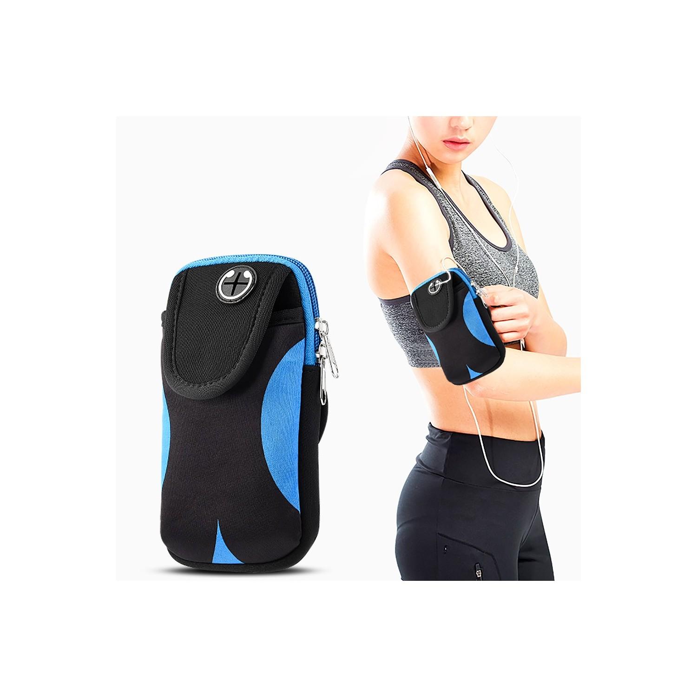 """. Funda sport DW banda brazo Universal 5.5"""" Azul Negro"""