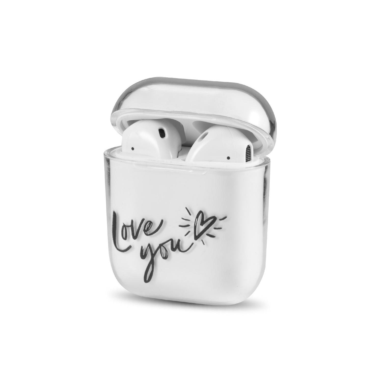 . Funda rígida compatible para AirPods 1 y 2 diseño Love
