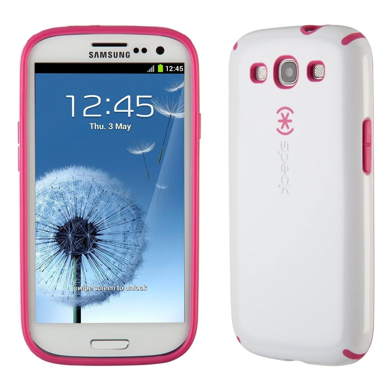 . Funda SPECK Samsung S3 Candyshell Blanco Rosa
