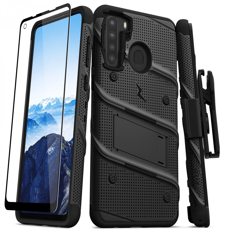 Case - Zizo® Bolt Case for SAMSUNG A21 Black
