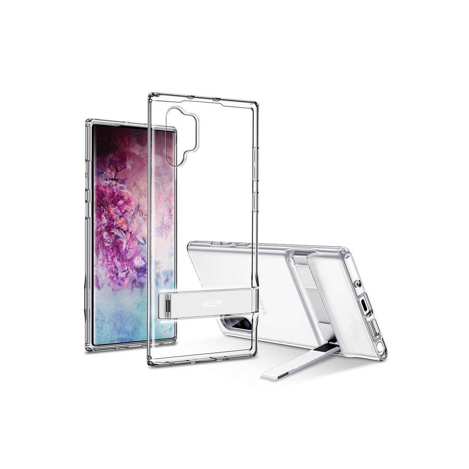 . Funda ESR Air Shield Boost para Samsung Note 10 PLUS Transparente Kickstand