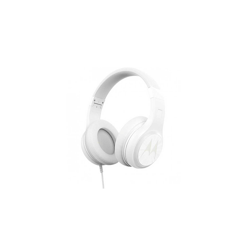 Manos Libres MOTOROLA Pulse 120 BLANCO 3.5mm Audifonos alámbricos Stereo Universal