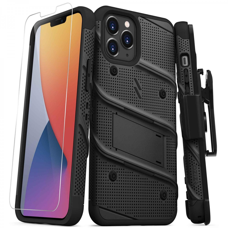 Case - Zizo Bolt Case for iPhone 12 PRO MAX Black/Black