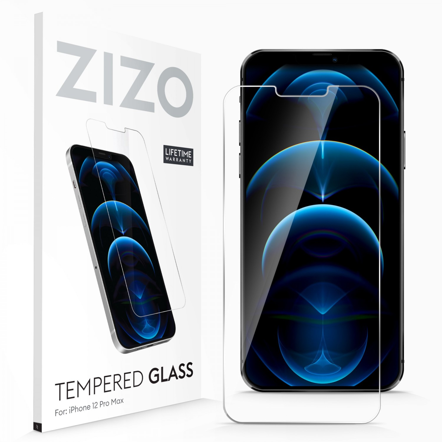Screen Protector - ZIZO Tempered Glass for iPhone 12 PRO MAX Clear