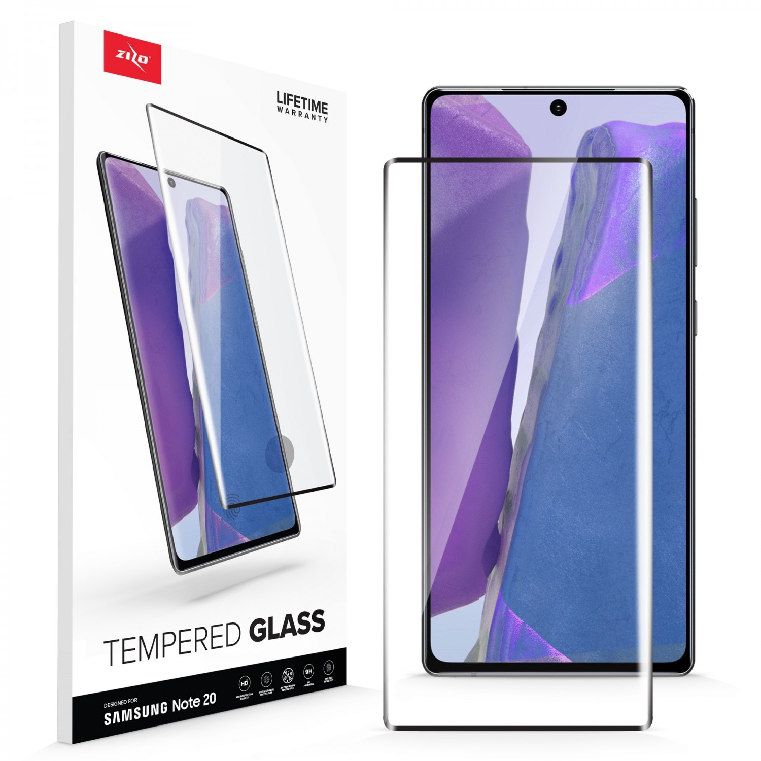Screen Protector - ZIZO Tempered Glass for Samsung NOTE 20