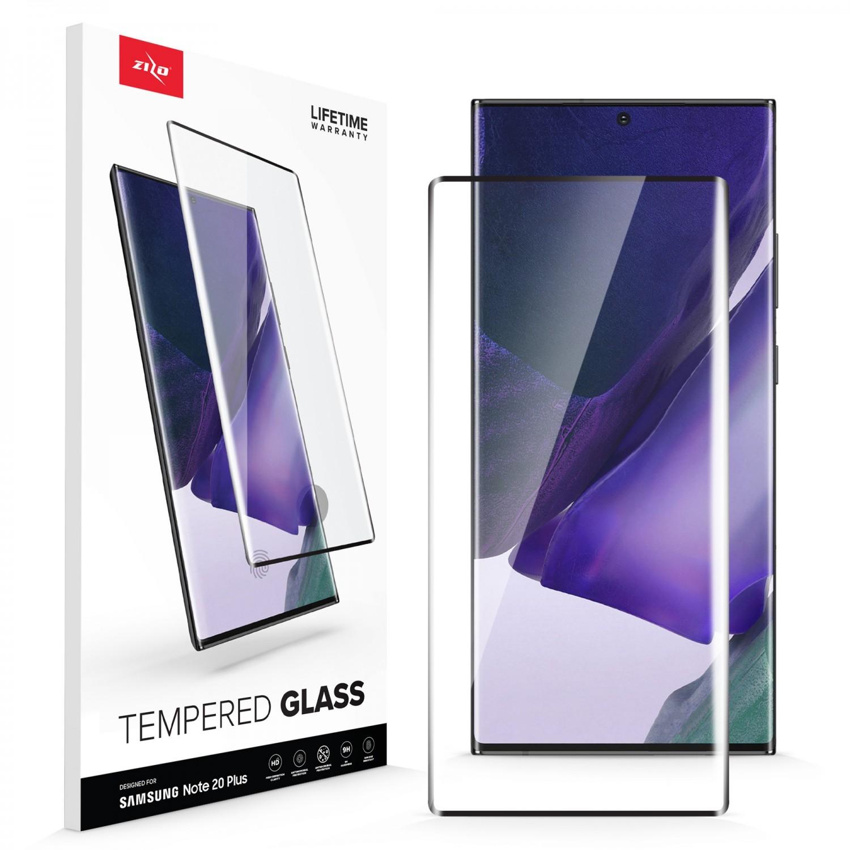 Mica Vidrio ZIZO para Samsung NOTE 20 ULTRA Protectora de pantalla transparente borde negro