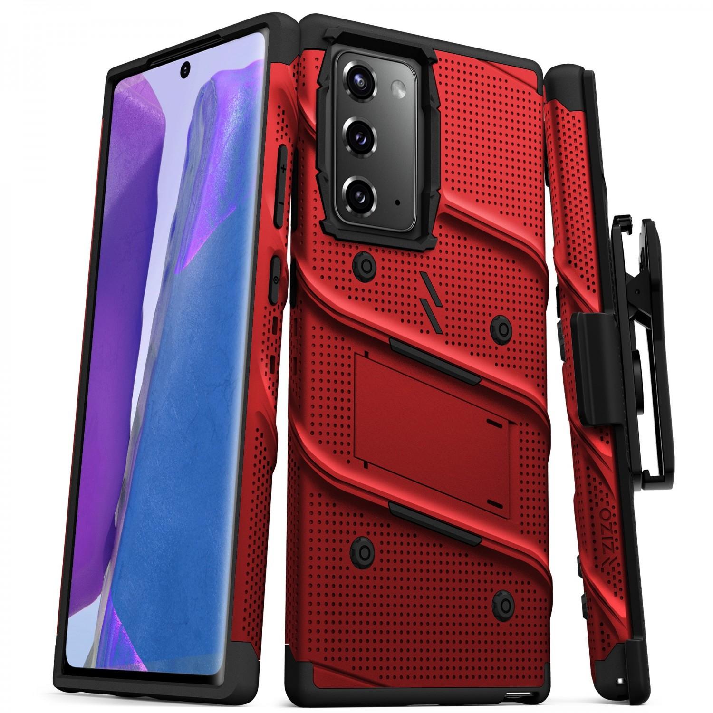 Case - Zizo® Bolt Case for SAMSUNG NOTE 20 Red Black