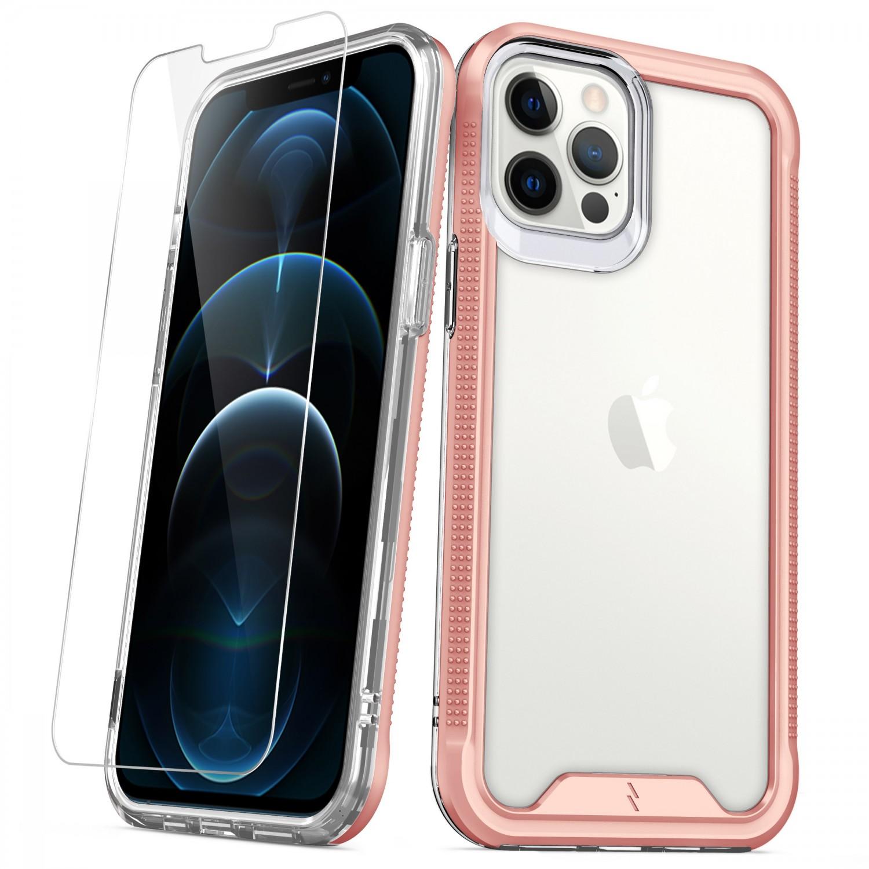 . Funda ZIZO Ion iPhone 12 PRO MAX Rose Gold con mica cristal