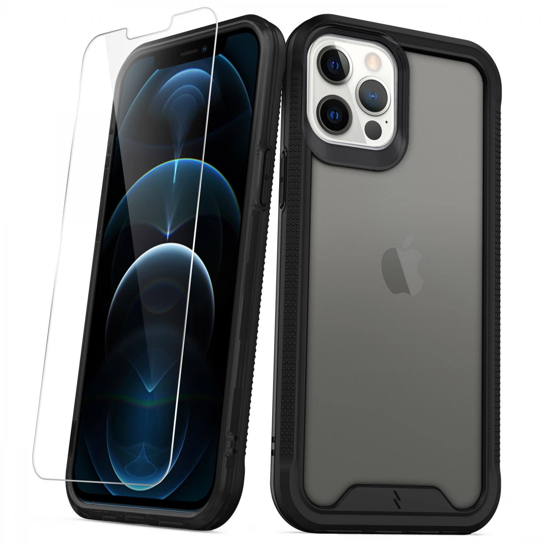 . Funda ZIZO Ion iPhone 12 PRO MAX Humo con mica cristal