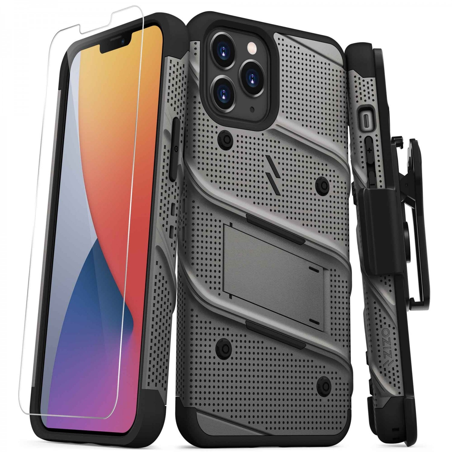 Case - Zizo Bolt Case for iPhone 12 PRO MAX Grey