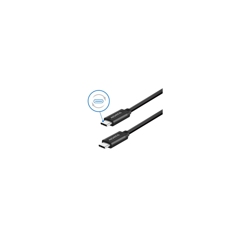 Cable de datos ADATA USB-C a USB-C Negro 1m