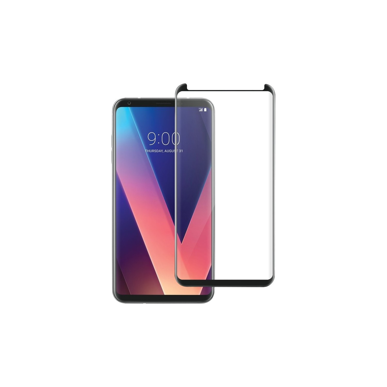 Mica Vidrio Templado AVIVO para LG V30 Protectora de pantalla transparente borde negro