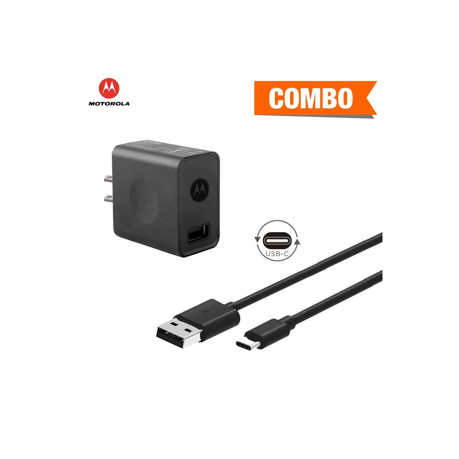 Charger MOTOROLA CP35 + USB-C Cable Combo