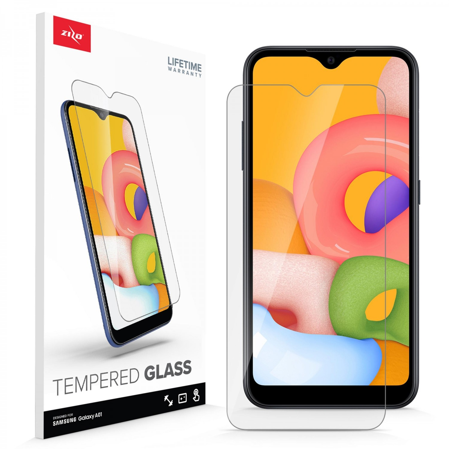 Screen Protector - ZIZO Tempered Glass for Samsung A01