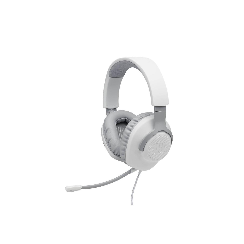 Audífonos JBL Quantumm 100 Gamer Blanco Stereo con micrófono Universal alámbrico 3.5mm