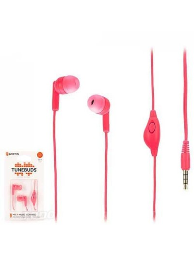 Manos Libres GRIFFIN Tunebuds Rosa - 3.5mm Universal