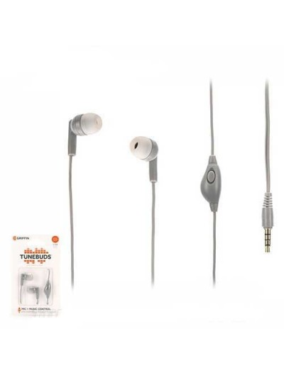 Manos Libres GRIFFIN Tunebuds Gris - 3.5mm Universal